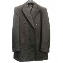 Mens Single Breasted Peak Lapel Black Blazer