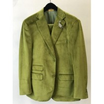 Mens Velvet  Mint Green Lime Casual Jacket