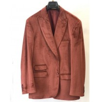 Mens Rust Copper Brick Jacket Velvet