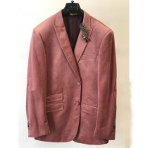 Mens Velvet  Coat Blush Mauve