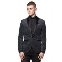 Mens Paisley Velvet Velour Blazer Sport Coat Jacket