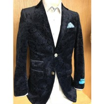 Mens Velvet Velour Notch Lapel Blazer Sport Coat Jacket