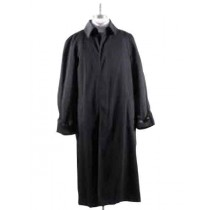 MENS LONG FULL LENGTH BLACK BIG AND TALL TRENCH COAT