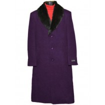 Dark Purple Big And Tall Overcoat Trench Coat Raincoats / Topcoat