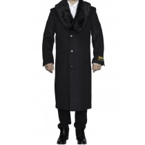 Mens Charcoal Grey Big And Tall Trench Coat Overcoat / Topcoat