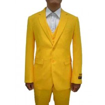 Alberto Nardoni Single Breasted Yellow Notch Lapel Suit