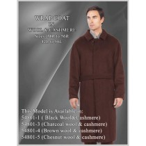 Brown Belted Full Length Wool Button Closure Single Breasted Overcoat