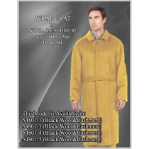 Belted Full Length Camel Wool Single Breasted - Mens Topcoat - Mens Tan Overcoat