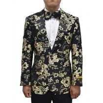 Gold Black Two Button Mens Blazer In Alberto Nardoni