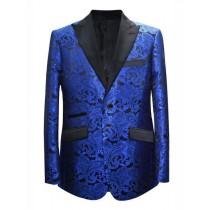Alberto Nardoni Royal Blue Paisley Pattern Blazer