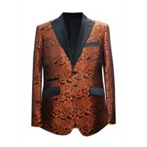 Alberto Nardoni Rust Coganc Light Brown Two Button Blazer