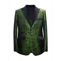 Alberto Nardoni Dark Green Hunter Two Button Blazer