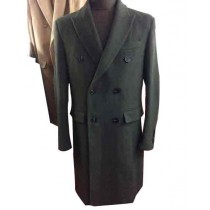 Mens Big And Tall Olive Wool Overcoat Outerwear Coat