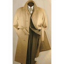 Mens Big And Tall Camel Wool Overcoat Outerwear Coat - Mens Tan Overcoat
