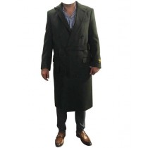 Alberto Nardoni Belted Wool Overcoat Double Breasted Top Coat Suit