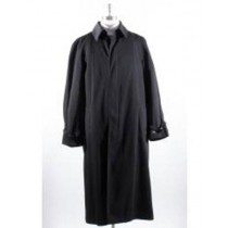 Mens Big And Tall Trench Coat Long Sleeve Black