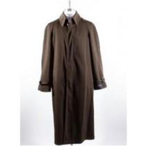 Mens Big And & Tall Button Closure Trench Coat Brown