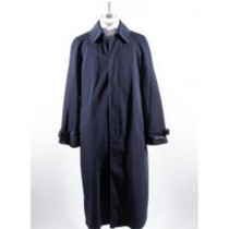 Mens Big And & Tall Button Closure Trench Coat Navy