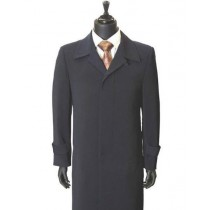 Mens Big And & Tall Button Closure Trench Coat Navy Blue