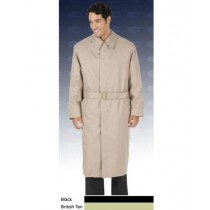Mens Big And & Tall Button Closure Trench Coat British Khaki ~ Tan
