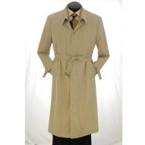 Mens Big And & Tall Button Closure Trench Coat Light Khaki