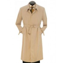 Mens Big And & Tall Button Closure Trench Coat Khaki