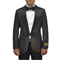 Shiny Pattern Dinner Jacket Alberto Nardoni In Black