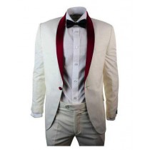 Single Breasted Cream ~ Ivory Shawl Lapel One Button Blazer
