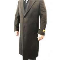 Single Breasted Alberto Nardoni Overcoat In Brown