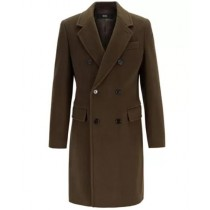 Green Alberto Nardoni wool Overcoat Double Breasted Top Coat - Ankle Length Coat
