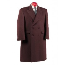 Alberto Nardoni Fully Lined Double Breasted Wool Long Overcoat