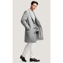 Mens Wool Light Grey~ Wine Wool Coat ~ Car coat~Peacoat By Alberto Nardoni