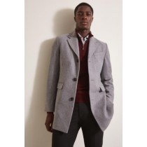Mens Wool Light Grey ~ Wine Wool Coat ~ Car coat ~Peacoat By Alberto Nardoni