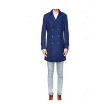 Blue Mens Knee Length Pea coat   Mens Peacoat