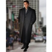 Mens Full Length Three Button  in Pure Cashmere - Mens Topcoat