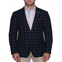 Mens two button blazer – closure plaid navy blazers