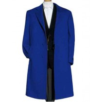 Mens Alberto Nardoni Indigo Wool Overcoat - Mens Topcoat