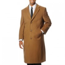 Back Vent 'Harvard' Camel ~ Khaki Cashmere Blend Long - Cashmere Topcoat - Mens Cashmere Overcoat - Cashmere Coat
