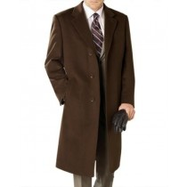 Lanzino Luxurious Brown Cashmere Premium Top Coat