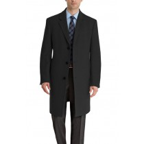 Luther Cashmere Blend Mens Notch Lapel Overcoat