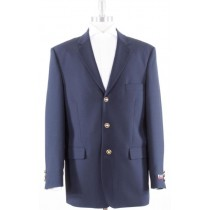 Navy Three buttons Jacket Blazer Notch Lapel Coat
