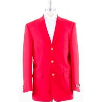 Mens Three buttons Notch Lapel Red Jacket