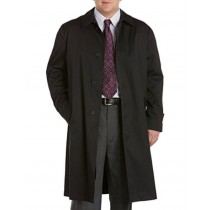 Mens Extra Long Outerwear Black RainCoat