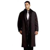 Polyester/Nylon Brown Long Rain Coat-Trench Coat for mens