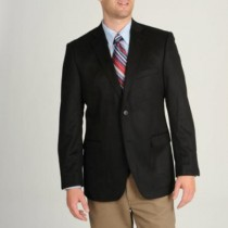 Model Charles Mens Black Wool & Cashmere Blend Sportcoat