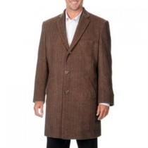 Herringbone Car Coat 'Ram' Light Brown Tweed Cashmere Blend - Cashmere Topcoat - Mens Cashmere Overcoat - Cashmere Coat