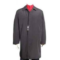Mens Brown Rain Jacket 3/4 length Trench Coat