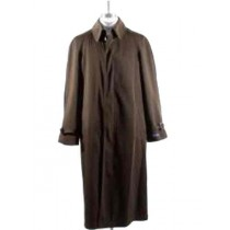 Men Brown Long Full Length Rain Coat