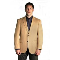 Mens Two button Extra Long Outerwear Coat Camel Overcoat - Mens Tan Overcoat
