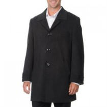 'Rodeo' Coat-Men's Dress Charcoal Cashmere Blend Car Coat